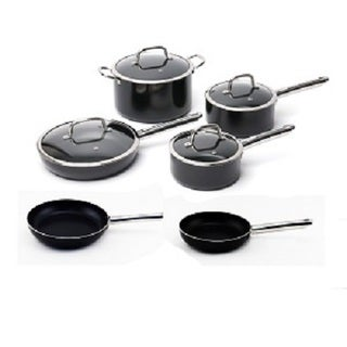 Berghoff EarthChef Boreal Black Aluminum Nonstick 10-piece Cookware Set