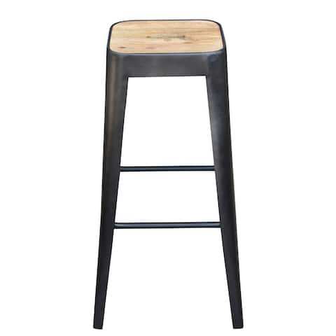 Aurelle Home Rustic Bistro Counter Stool