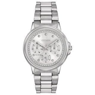 Citizen Women's FD2040-57A Eco-Drive Nighthawk Silvertone Stainless Steel Watch
