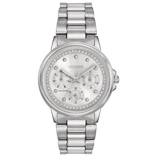 Citizen Women's FD2040-57A Eco-Drive Nighthawk Silvertone Stainless Steel Watch