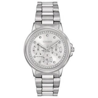 Citizen Women's FD2040-57A Eco-Drive Nighthawk Silvertone Stainless Steel Watch - silver