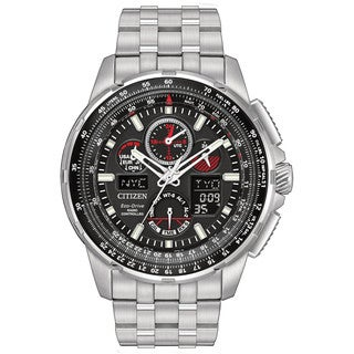 Citizen Eco-Drive Men's Skyhawk Atomic Timekeeping Stainless Steel Watch JY8050-51E