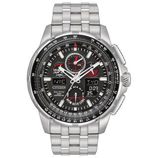 Citizen Men's JY8050-51E Eco-Drive Skyhawk Atomic Timekeeping Stainless Steel Watch|https://ak1.ostkcdn.com/images/products/13327432/P20031897.jpg?impolicy=medium