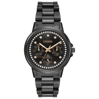 Citizen Women's FD2047-58E Eco-Drive Nighthawk Black Ion-plated Stainless Steel Watch