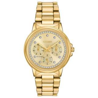 Citizen Women's FD2042-51P Eco-drive ' Nighthawk Gold-Tone Stainless Steel Watch
