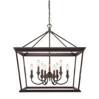 Golden Lighting Davenport Etruscan Bronze 2-tier 9-light Chandelier