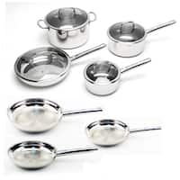 BergHOFF EarthChef Boreal Stainless Steel 11-piece Cookware Set - Silver