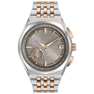 Citizen Men's CC3026-51H Eco-Drive Satellite Wave GPS Two-Tone Stainless Steel Watch https://ak1.ostkcdn.com/images/products/13327465/P20031904.jpg?impolicy=medium