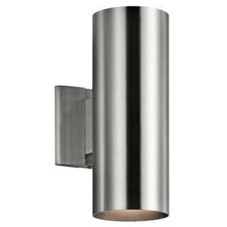 Kichler Lighting Contemporary 2-light Brushed Aluminum Indoor/Outdoor Wall Sconce|https://ak1.ostkcdn.com/images/products/13327500/P20031855.jpg?impolicy=medium