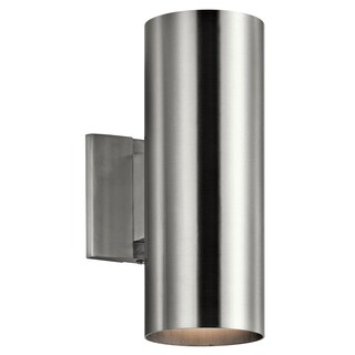 Kichler Lighting Contemporary 2-light Brushed Aluminum Indoor/Outdoor Wall Sconce
