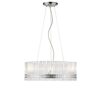 Golden Lighting Luciano Crystal Clear Rods Chrome 3-light Chandelier