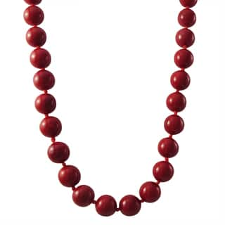 Luxiro Gold Finish 10-mm Red Shell Pearl Strand Necklace|https://ak1.ostkcdn.com/images/products/13327547/P20032283.jpg?impolicy=medium