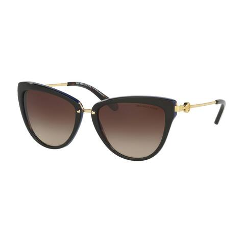 Michael Kors Women MK6039 ABELA II 314713 Havana Metal Cat Eye Sunglasses