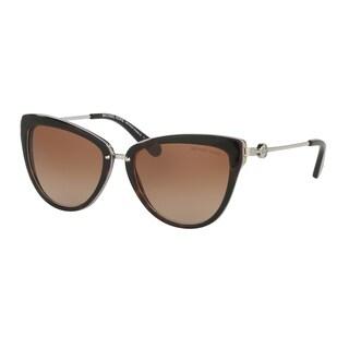 Michael Kors Women MK6039 ABELA II 314513 Havana Metal Cat Eye Sunglasses