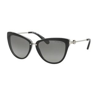 Michael Kors Women MK6039 ABELA II 312911 Black Metal Cat Eye Sunglasses
