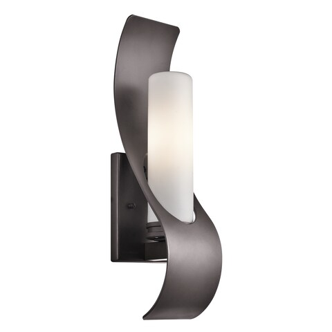 Kichler Lighting Zolder Collection 1-light Architectural Bronze Indoor/Outdoor Wall Sconce