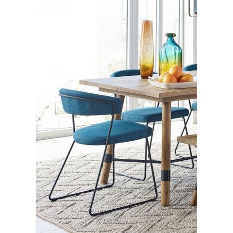Aurelle Home Italian Modern Dining Chair (Set of 2)