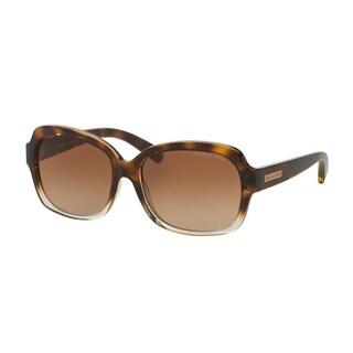 Michael Kors Women MK6037 MITZI III 312513 Havana Plastic Square Sunglasses