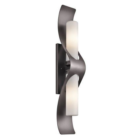 Kichler Lighting Zolder Collection 2-light Architectural Bronze Indoor/Outdoor Wall Sconce