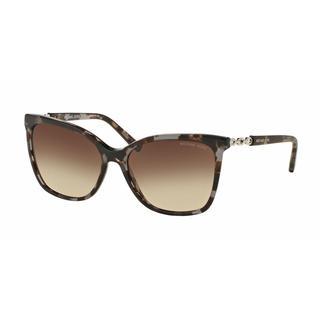 Michael Kors Women MK6029F 310713 Havana Plastic Square Sunglasses
