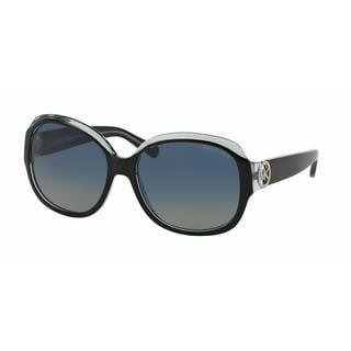Michael Kors Women MK6004 KAUAI 30011H Black Plastic Square Sunglasses
