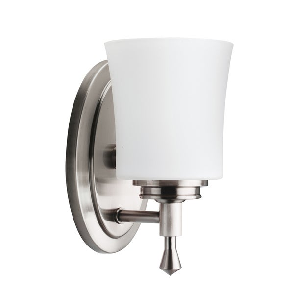 Kichler Lighting Wharton Collection 1 Light Brushed Nickel Wall Sconce