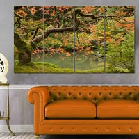 Designart 'Japanese Garden Fall Season' Large Landscape Canvas Art