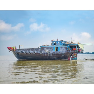 Stewart Parr 'Another scene of living and working on Mekong River boats 11x14 Photograph' Unframed Photo Print