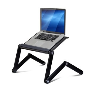 Furinno A6 Ergonomics Classic Colors Aluminum Vented AdJustable Multi-functional Laptop Desk and Portable Bed Tray