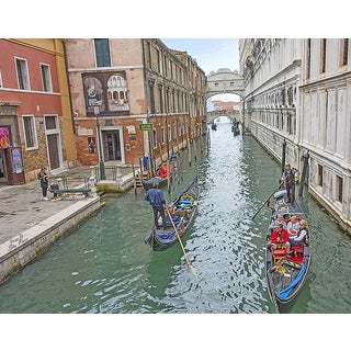Stewart Parr 'Canals of Venice with Gondolas' 11x14 Unframed Photo Print
