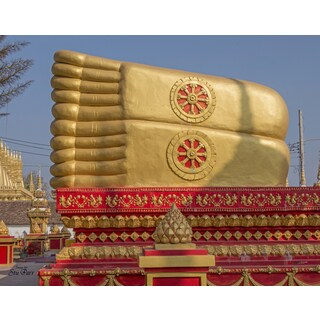 Stewart Parr 'Feet of Female Buddha in King Anouvong Park in Vientiane, Laos' Unframed Photo Print
