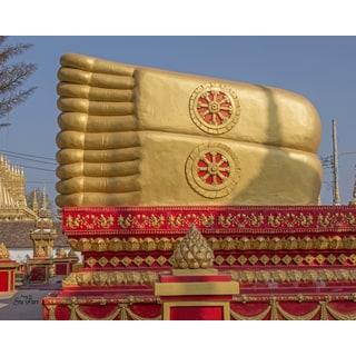 Stewart Parr 'Feet of Female Buddha of King Anouvony Park in Vientiane, Laos' Unframed Photo Print