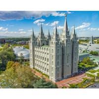 Stewart Parr 'Mormon Temple of Salt Lake City, Utah Daytime' Photograph Unframed Photo Print
