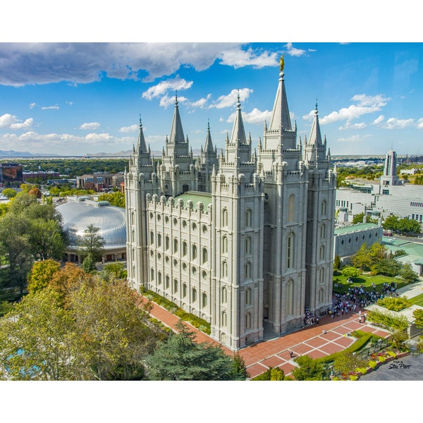 Stewart Parr 'Mormon Temple of Salt Lake City, Utah Daytime' Unframed Photo Print