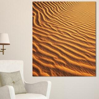 Designart 'Beautiful Sand Desert Dunes' African Landscape Print Wall Art