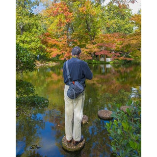 Stewart Parr 'Photographer Shooting the Autumn Changing Colors' Unframed Photo Print