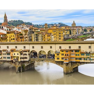 Stewart Parr 'Ponte Vecchio or Old Bridge' Multicolored Unframed Photo Print