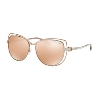 Michael Kors Women MK1013 AUDRINA I 1121R1 Pink Metal Cat Eye Sunglasses