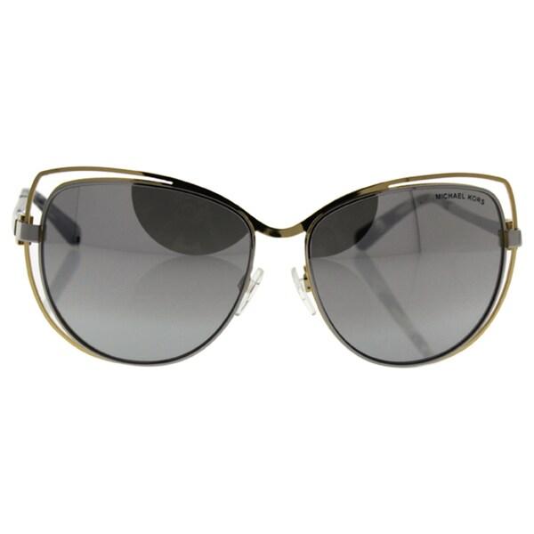 189942c334 Michael Kors Women MK1013 AUDRINA I 11196V Gold Metal Cat Eye Sunglasses