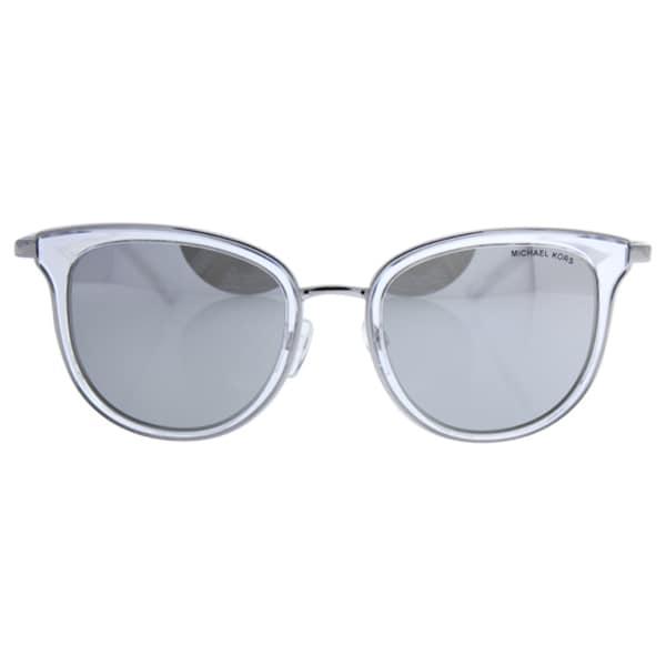 ed81057db0d Michael Kors Women MK1010 ADRIANNA I 11026G Clear Metal Phantos Sunglasses