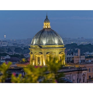 Stewart Parr 'St. Peter's Basilica Dome at Night' Unframed Photo Print