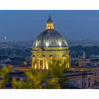 Stewart Parr 'St. Peter's Basillica dome at night Photograph' Unframed Photo Print