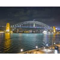 Stewart Parr 'Sydney Harbor Bridge at Night' Unframed Photo Print