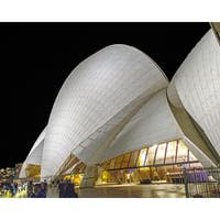 Stewart Parr 'Sydney Opera House at Night' Multicolored Unframed Photo Print