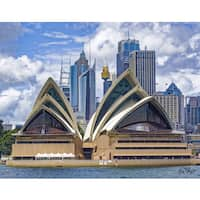 Stewart Parr 'Sydney Opera House City Skyline Background' Unframed Photo Print