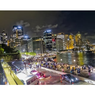 Stewart Parr 'Sydney city at night from Opera House' Photograph Unframed Photo Print