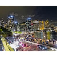 Stewart Parr 'Sydney Australia City At Night' Multicolored Unframed Photo Print
