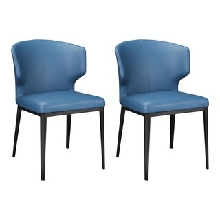 Aurelle Home Armless Contemporary Modern Dining Chair (Set of 2)