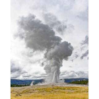 Stewart Parr 'Yellowstone Old Faithful Geyser' Unframed Photo Print