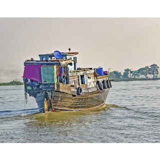 Stewart Parr 'living and working on Mekong River boats, Laos Photograph' Unframed Photo Print